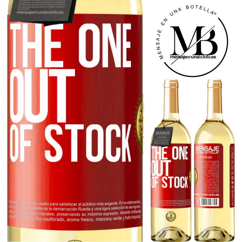 24,95 € Free Shipping   White Wine WHITE Edition The one out of stock Red Label. Customizable label Young wine Harvest 2020 Verdejo