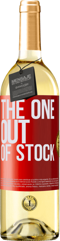 24,95 € Envío gratis | Vino Blanco Edición WHITE The one out of stock Etiqueta Roja. Etiqueta personalizable Vino joven Cosecha 2020 Verdejo