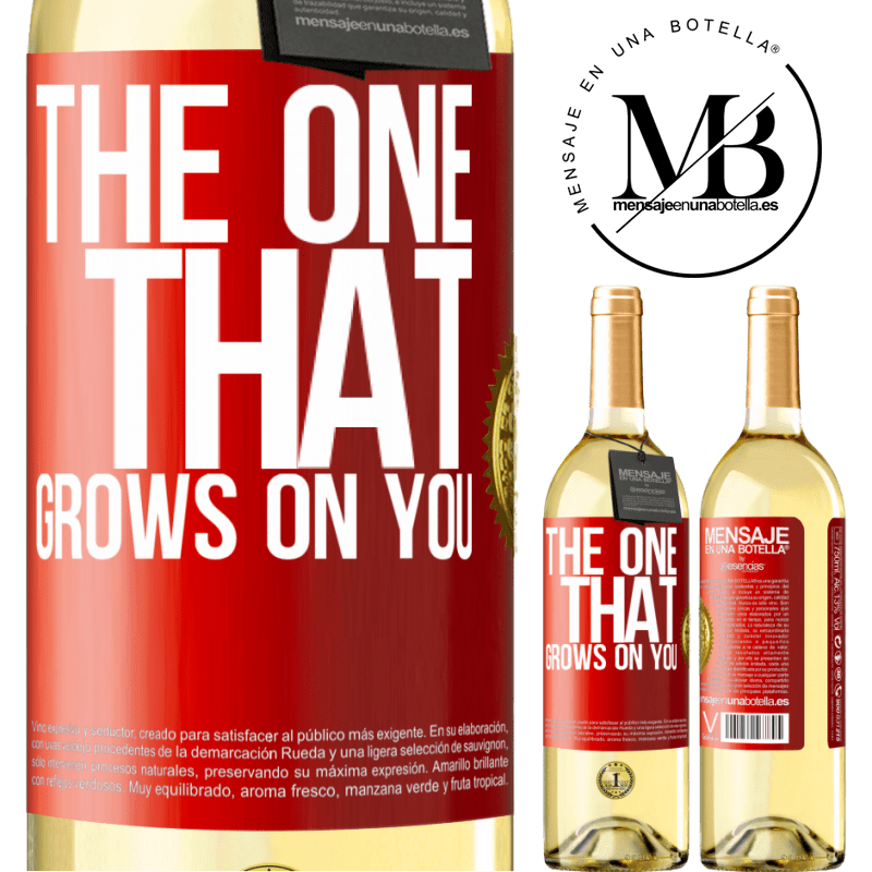 24,95 € Free Shipping | White Wine WHITE Edition The one that grows on you Red Label. Customizable label Young wine Harvest 2020 Verdejo