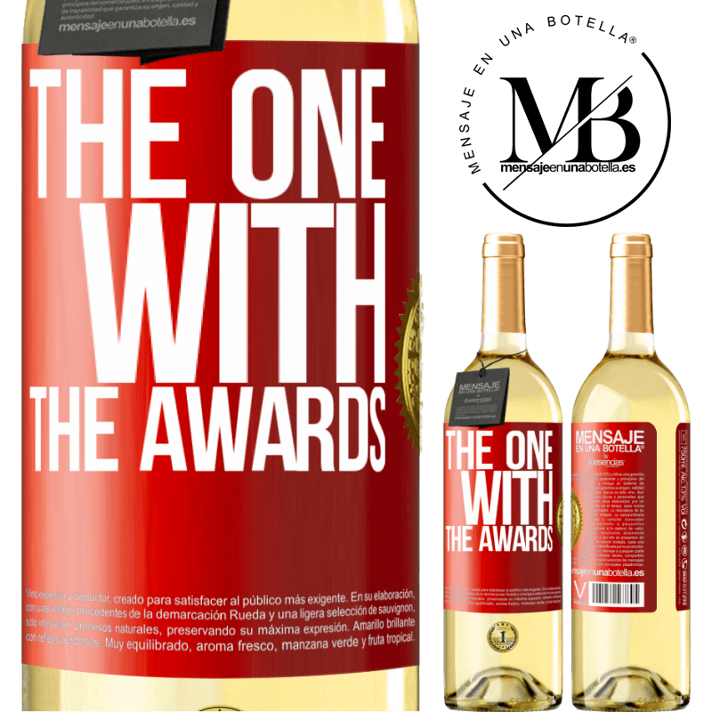 24,95 € Free Shipping | White Wine WHITE Edition The one with the awards Red Label. Customizable label Young wine Harvest 2020 Verdejo