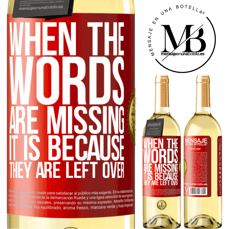 24,95 € Free Shipping | White Wine WHITE Edition When the words are missing, it is because they are left over Red Label. Customizable label Young wine Harvest 2020 Verdejo