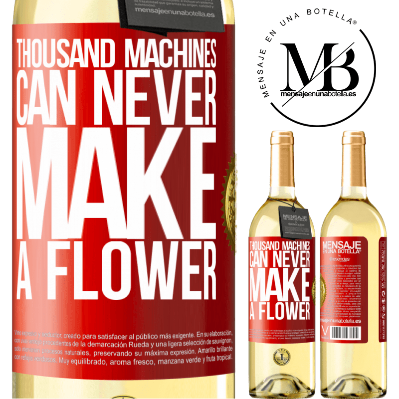 24,95 € Free Shipping   White Wine WHITE Edition Thousand machines can never make a flower Red Label. Customizable label Young wine Harvest 2020 Verdejo