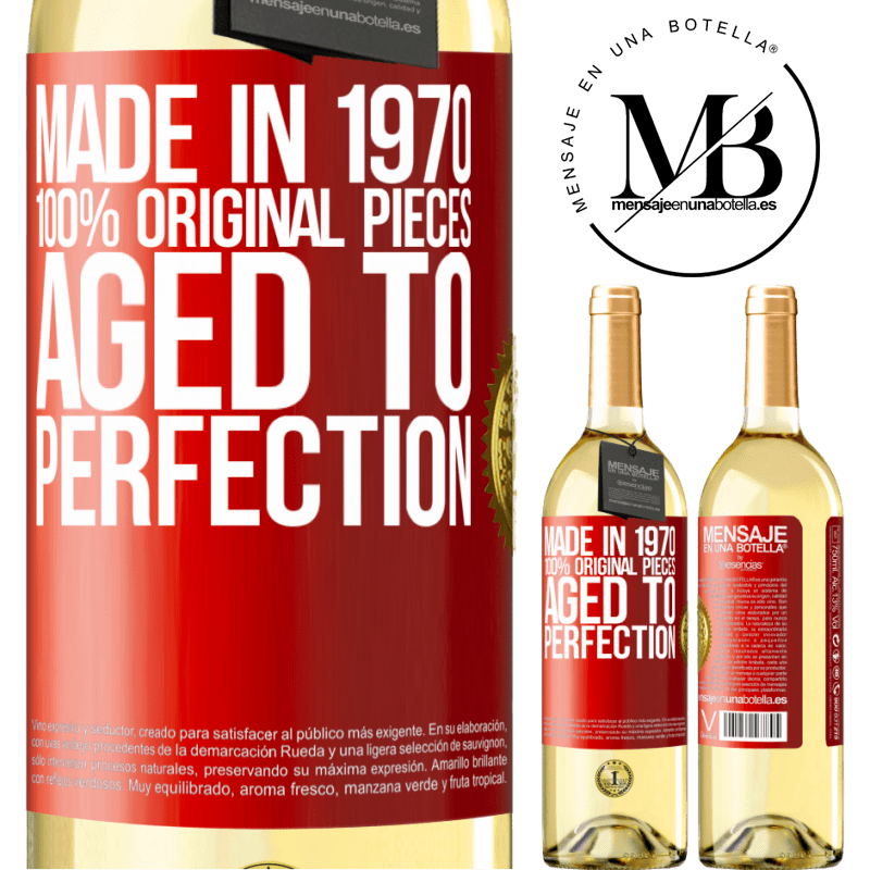 24,95 € Free Shipping | White Wine WHITE Edition Made in 1970, 100% original pieces. Aged to perfection Red Label. Customizable label Young wine Harvest 2020 Verdejo