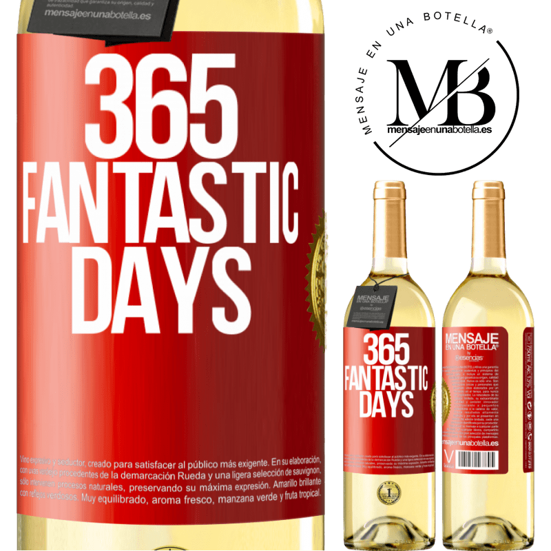 24,95 € Free Shipping   White Wine WHITE Edition 365 fantastic days Red Label. Customizable label Young wine Harvest 2020 Verdejo