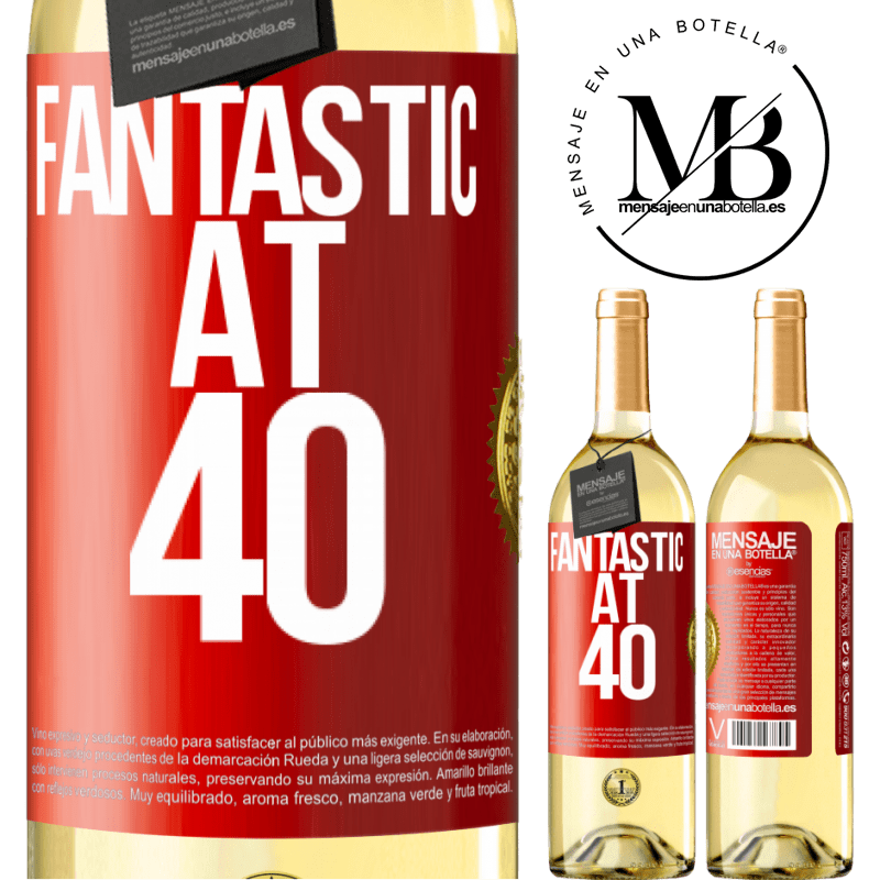 24,95 € Free Shipping   White Wine WHITE Edition Fantastic at 40 Red Label. Customizable label Young wine Harvest 2020 Verdejo