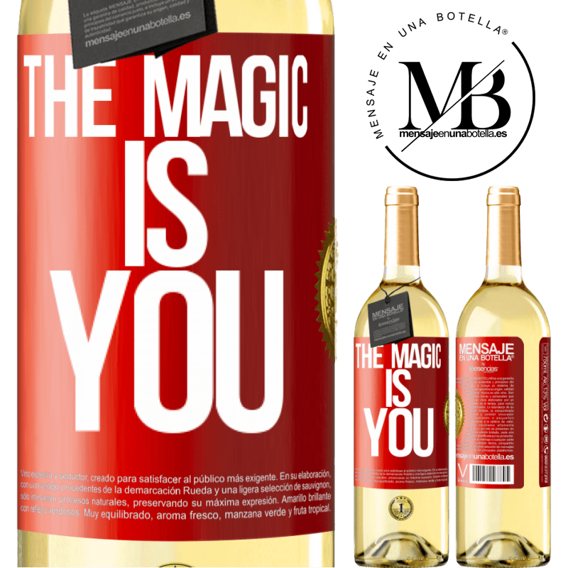 24,95 € Free Shipping   White Wine WHITE Edition The magic is you Red Label. Customizable label Young wine Harvest 2020 Verdejo