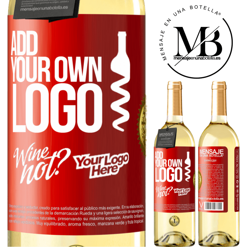 24,95 € Free Shipping | White Wine WHITE Edition Add your own logo Red Label. Customizable label Young wine Harvest 2020 Verdejo