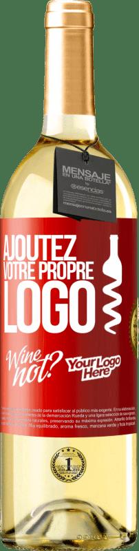 24,95 € Envoi gratuit | Vin blanc Édition WHITE Ajoutez votre propre logo Étiquette Rouge. Étiquette personnalisable Vin jeune Récolte 2020 Verdejo