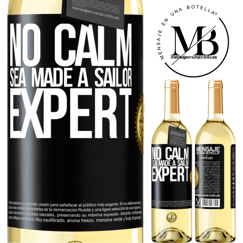 24,95 € Free Shipping   White Wine WHITE Edition No calm sea made a sailor expert Black Label. Customizable label Young wine Harvest 2020 Verdejo