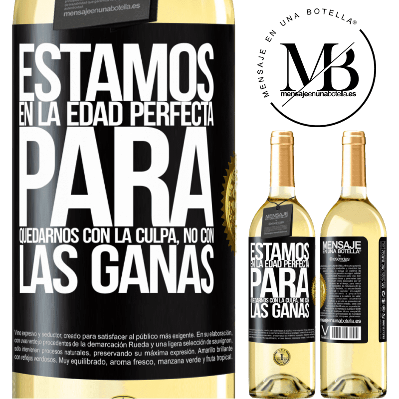 24,95 € Envoi gratuit   Vin blanc Édition WHITE Nous sommes dans l'âge parfait pour garder le blâme, pas le désir Étiquette Noire. Étiquette personnalisable Vin jeune Récolte 2020 Verdejo