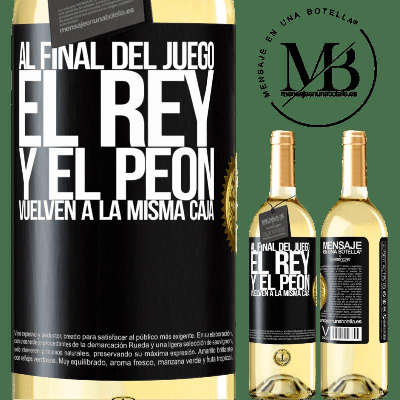 24,95 € Envoi gratuit   Vin blanc Édition WHITE A la fin de la partie, le roi et le pion retournent dans la même case Étiquette Noire. Étiquette personnalisable Vin jeune Récolte 2020 Verdejo