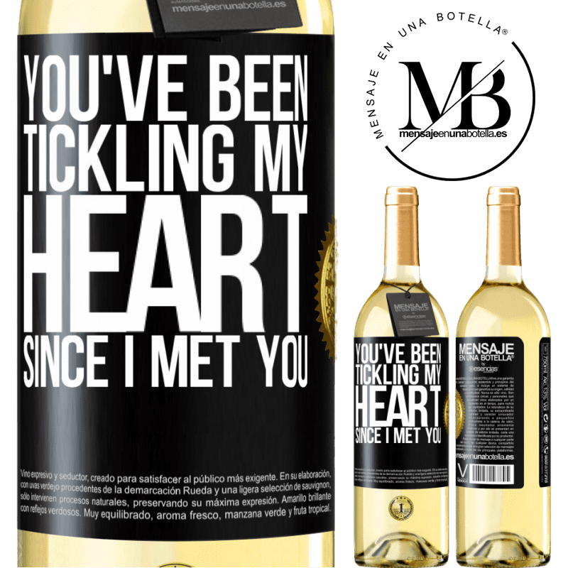 24,95 € Free Shipping | White Wine WHITE Edition You've been tickling my heart since I met you Black Label. Customizable label Young wine Harvest 2020 Verdejo