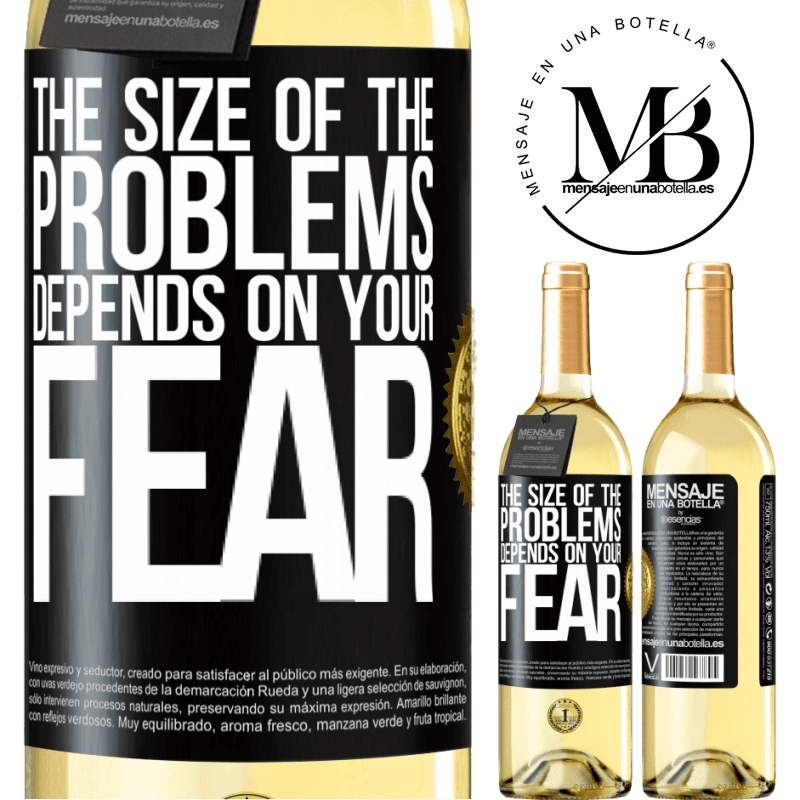 24,95 € Free Shipping   White Wine WHITE Edition The size of the problems depends on your fear Black Label. Customizable label Young wine Harvest 2020 Verdejo