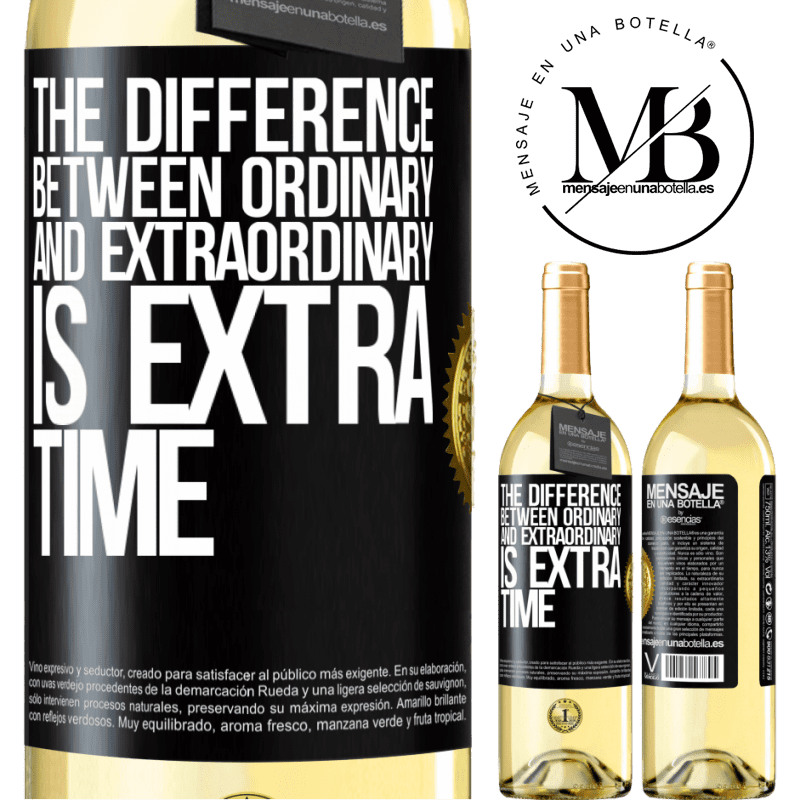 24,95 € Free Shipping | White Wine WHITE Edition The difference between ordinary and extraordinary is EXTRA time Black Label. Customizable label Young wine Harvest 2020 Verdejo