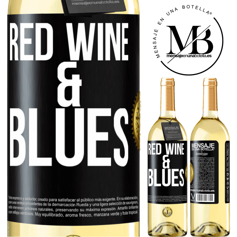 24,95 € Free Shipping | White Wine WHITE Edition Red wine & Blues Black Label. Customizable label Young wine Harvest 2020 Verdejo