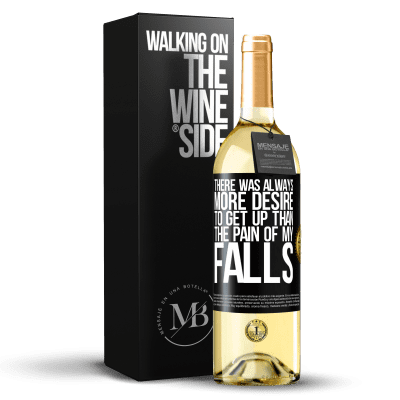 «There was always more desire to get up than the pain of my falls» WHITE Edition