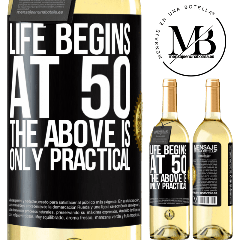 24,95 € Free Shipping   White Wine WHITE Edition Life begins at 50, the above is only practical Black Label. Customizable label Young wine Harvest 2020 Verdejo