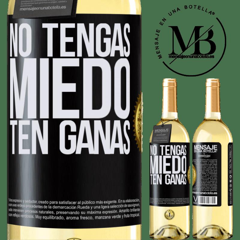 24,95 € Envoi gratuit   Vin blanc Édition WHITE N'ayez pas peur. Envie Étiquette Noire. Étiquette personnalisable Vin jeune Récolte 2020 Verdejo