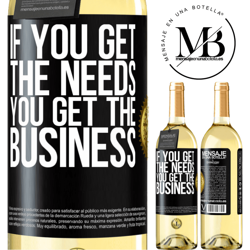 24,95 € Free Shipping | White Wine WHITE Edition If you get the needs, you get the business Black Label. Customizable label Young wine Harvest 2020 Verdejo