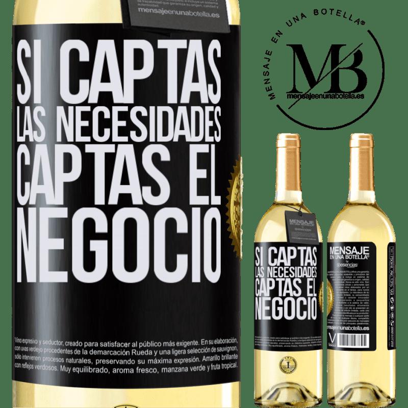 24,95 € Envoi gratuit | Vin blanc Édition WHITE Si vous obtenez les besoins, vous obtenez l'entreprise Étiquette Noire. Étiquette personnalisable Vin jeune Récolte 2020 Verdejo