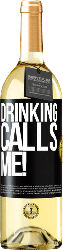 24,95 € Free Shipping | White Wine WHITE Edition drinking calls me! Black Label. Customizable label Young wine Harvest 2020 Verdejo