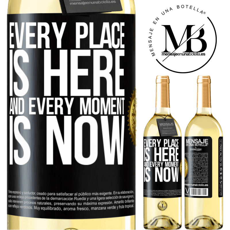 24,95 € Free Shipping | White Wine WHITE Edition Every place is here and every moment is now Black Label. Customizable label Young wine Harvest 2020 Verdejo