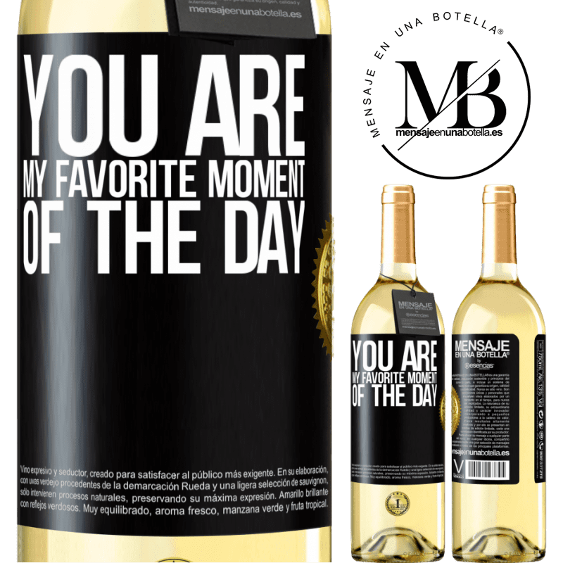 24,95 € Free Shipping | White Wine WHITE Edition You are my favorite moment of the day Black Label. Customizable label Young wine Harvest 2020 Verdejo