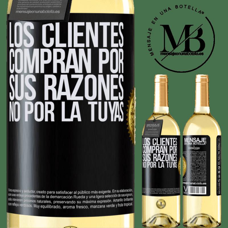 24,95 € Envoi gratuit | Vin blanc Édition WHITE Les clients achètent pour leurs raisons, pas les vôtres Étiquette Noire. Étiquette personnalisable Vin jeune Récolte 2020 Verdejo
