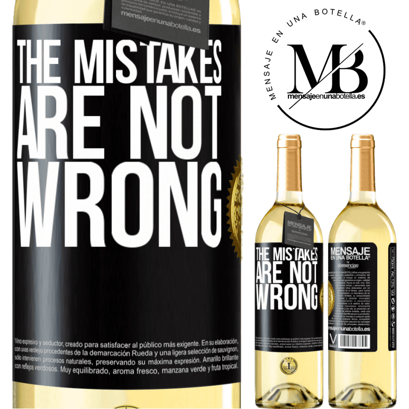 24,95 € Free Shipping   White Wine WHITE Edition The mistakes are not wrong Black Label. Customizable label Young wine Harvest 2020 Verdejo