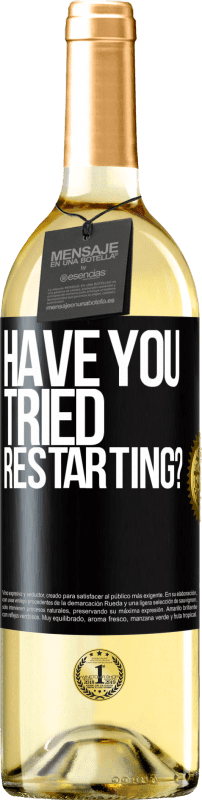 24,95 € | White Wine WHITE Edition have you tried restarting? Black Label. Customizable label Young wine Harvest 2020 Verdejo