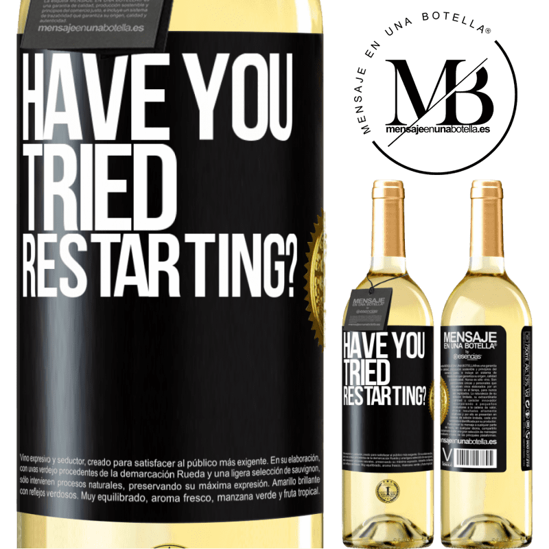 24,95 € Free Shipping   White Wine WHITE Edition have you tried restarting? Black Label. Customizable label Young wine Harvest 2020 Verdejo