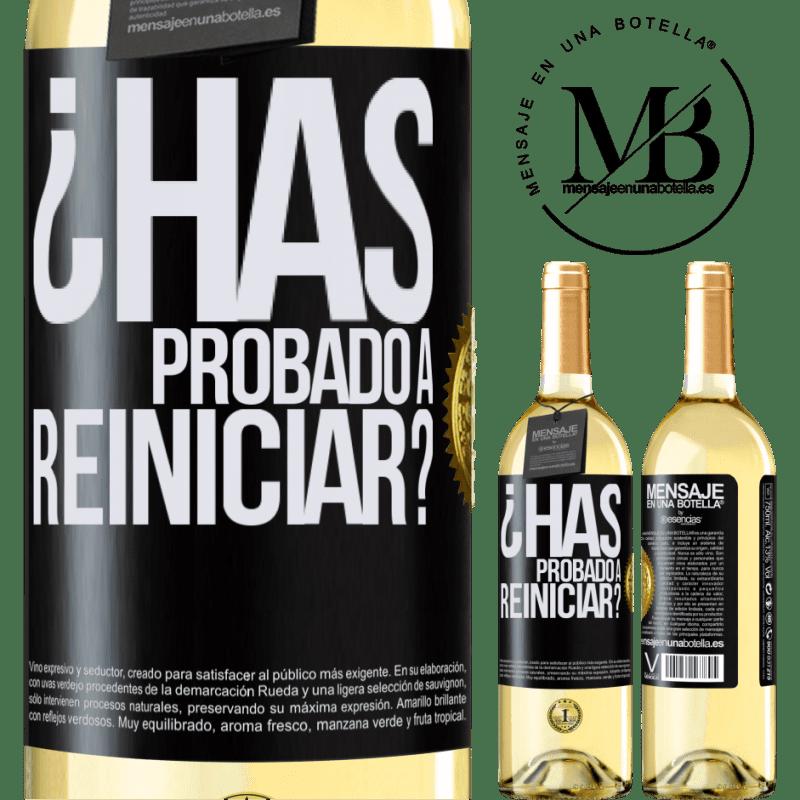 24,95 € Envoi gratuit | Vin blanc Édition WHITE avez-vous essayé de redémarrer? Étiquette Noire. Étiquette personnalisable Vin jeune Récolte 2020 Verdejo