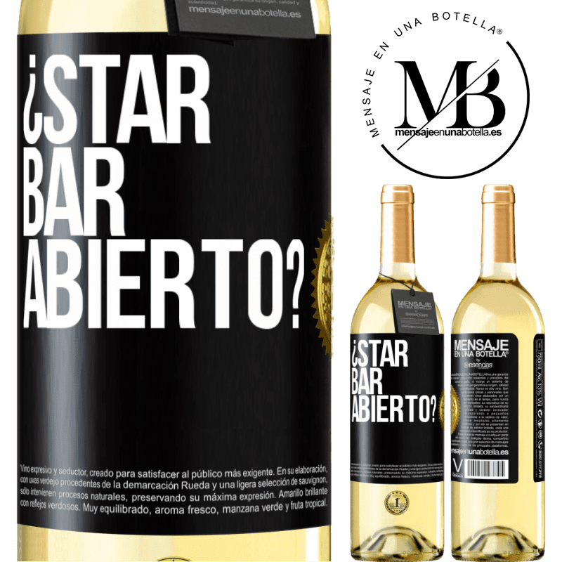 24,95 € Free Shipping | White Wine WHITE Edition ¿STAR BAR abierto? Black Label. Customizable label Young wine Harvest 2020 Verdejo