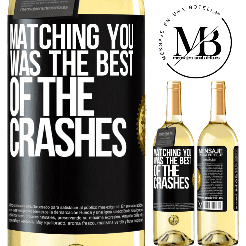 24,95 € Free Shipping | White Wine WHITE Edition Matching you was the best of the crashes Black Label. Customizable label Young wine Harvest 2020 Verdejo