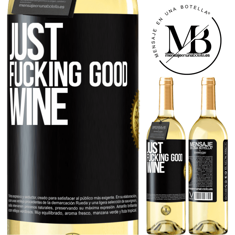 24,95 € Free Shipping | White Wine WHITE Edition Just fucking good wine Black Label. Customizable label Young wine Harvest 2020 Verdejo