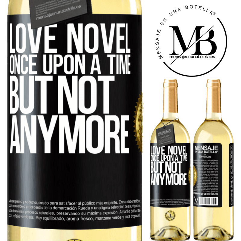 24,95 € Free Shipping | White Wine WHITE Edition Love novel. Once upon a time, but not anymore Black Label. Customizable label Young wine Harvest 2020 Verdejo