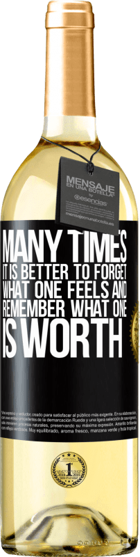 24,95 € Free Shipping | White Wine WHITE Edition Many times it is better to forget what one feels and remember what one is worth Black Label. Customizable label Young wine Harvest 2020 Verdejo