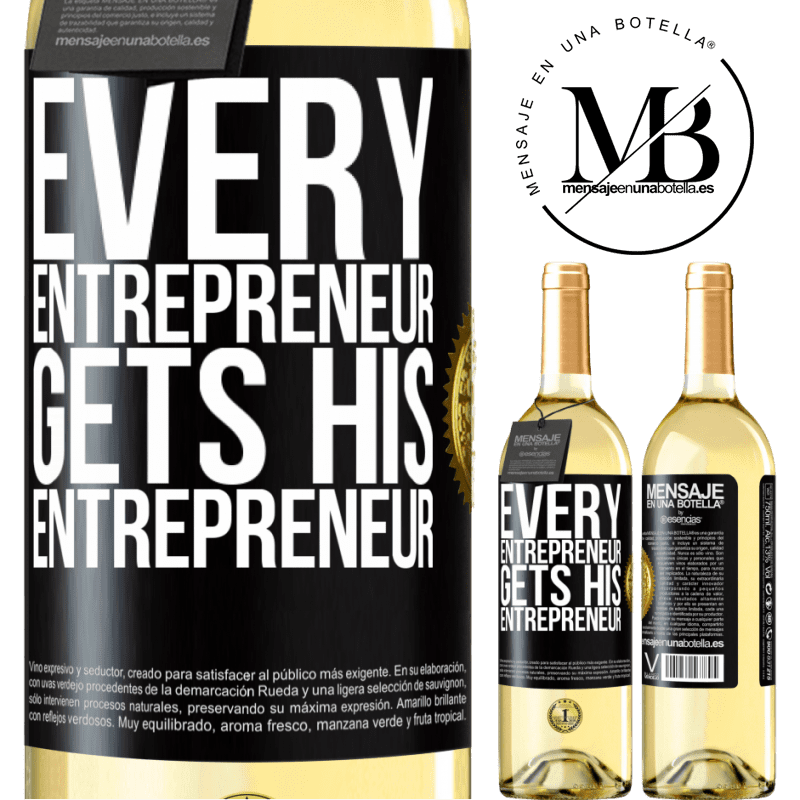 24,95 € Free Shipping | White Wine WHITE Edition Every entrepreneur gets his entrepreneur Black Label. Customizable label Young wine Harvest 2020 Verdejo