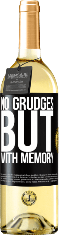 24,95 € Free Shipping   White Wine WHITE Edition No grudges, but with memory Black Label. Customizable label Young wine Harvest 2020 Verdejo