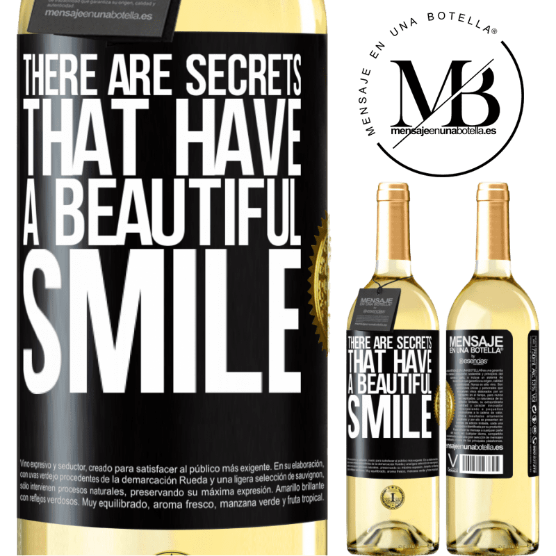 24,95 € Free Shipping | White Wine WHITE Edition There are secrets that have a beautiful smile Black Label. Customizable label Young wine Harvest 2020 Verdejo