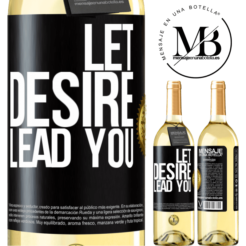 24,95 € Free Shipping | White Wine WHITE Edition Let desire lead you Black Label. Customizable label Young wine Harvest 2020 Verdejo