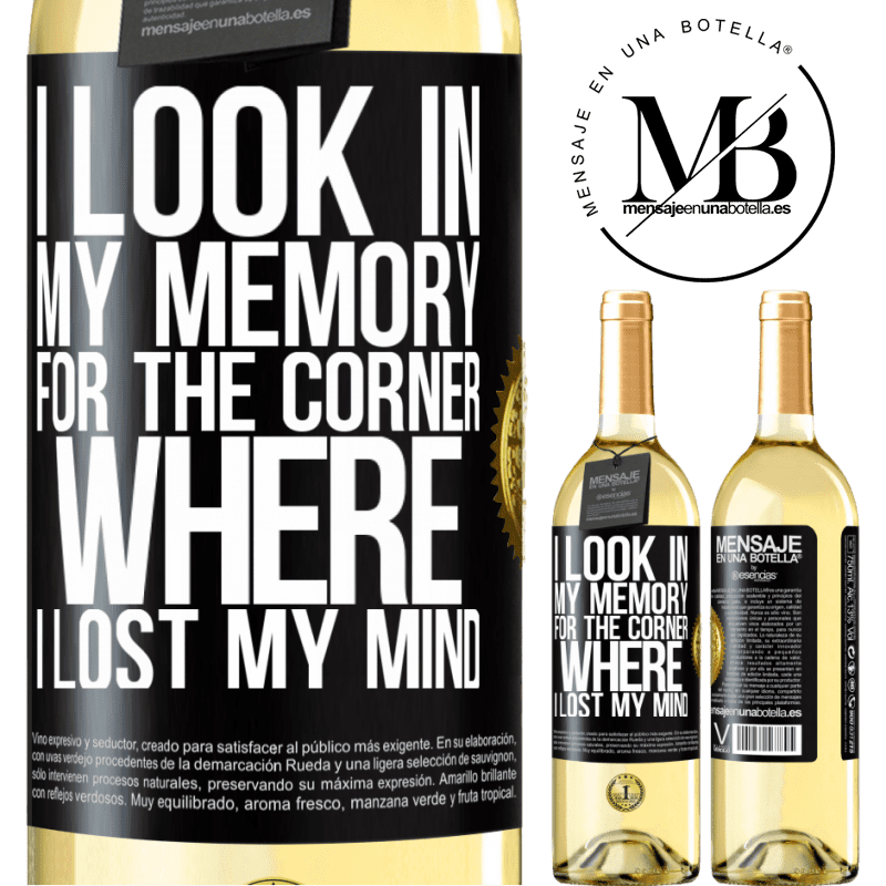 24,95 € Free Shipping   White Wine WHITE Edition I look in my memory for the corner where I lost my mind Black Label. Customizable label Young wine Harvest 2020 Verdejo