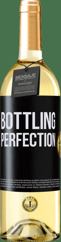 24,95 € Envío gratis | Vino Blanco Edición WHITE Bottling perfection Etiqueta Negra. Etiqueta personalizable Vino joven Cosecha 2020 Verdejo