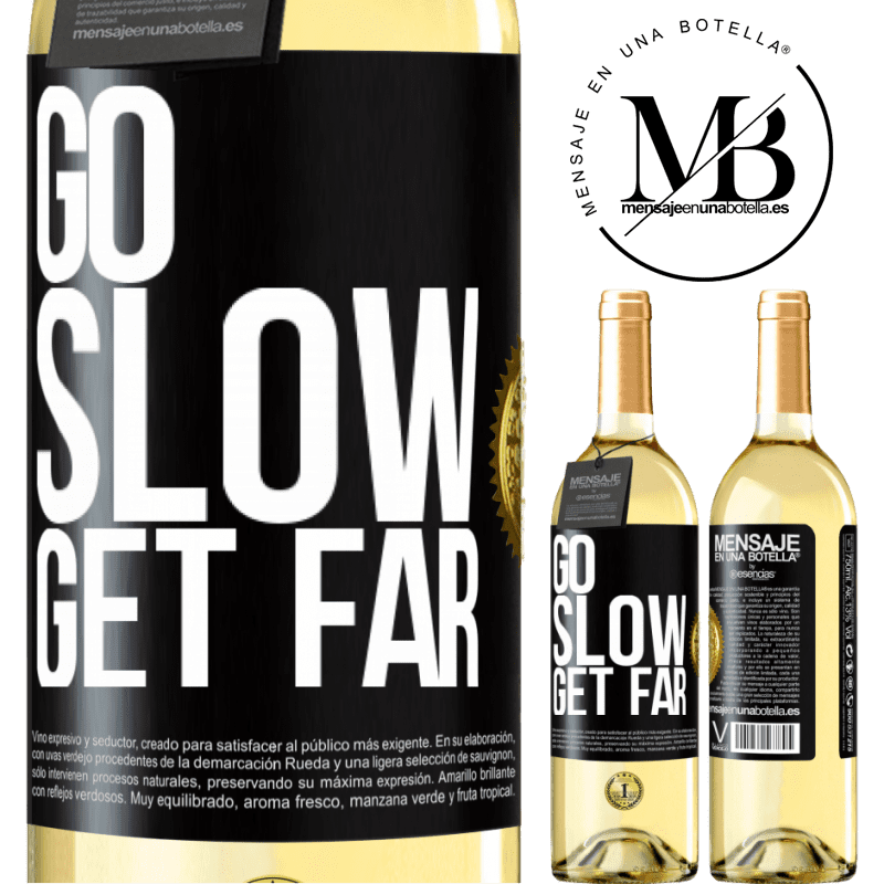 24,95 € Free Shipping   White Wine WHITE Edition Go slow. Get far Black Label. Customizable label Young wine Harvest 2020 Verdejo