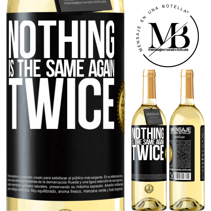 24,95 € Free Shipping | White Wine WHITE Edition Nothing is the same again twice Black Label. Customizable label Young wine Harvest 2020 Verdejo