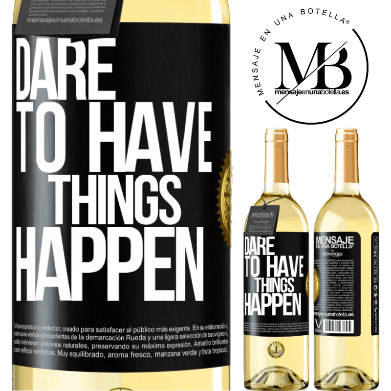 24,95 € Free Shipping | White Wine WHITE Edition Dare to have things happen Black Label. Customizable label Young wine Harvest 2020 Verdejo