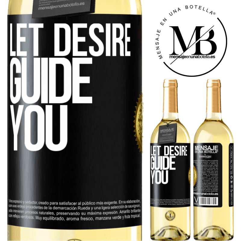 24,95 € Free Shipping | White Wine WHITE Edition Let desire guide you Black Label. Customizable label Young wine Harvest 2020 Verdejo