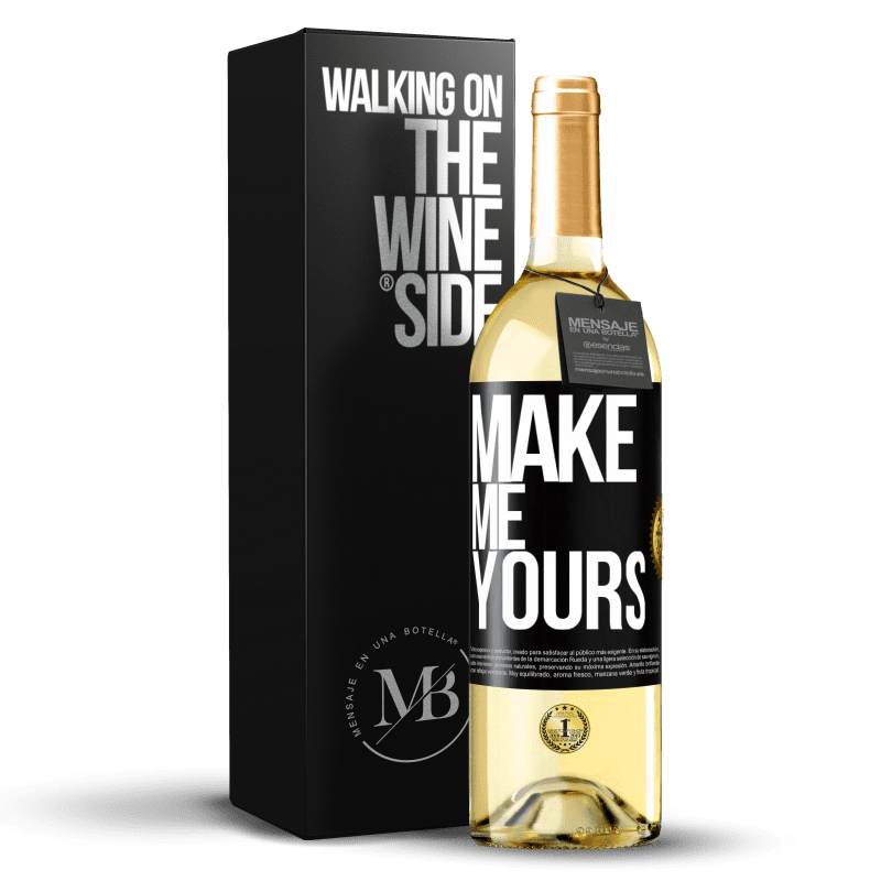 24,95 € Free Shipping | White Wine WHITE Edition Make me yours Black Label. Customizable label Young wine Harvest 2020 Verdejo
