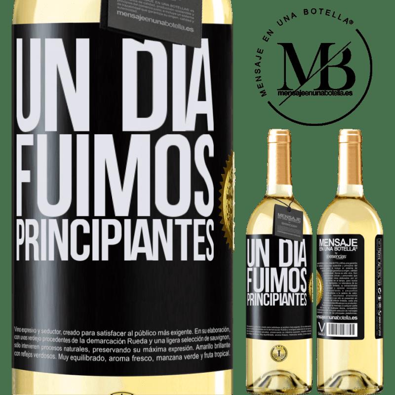 24,95 € Envoi gratuit   Vin blanc Édition WHITE Un jour, nous étions débutants Étiquette Noire. Étiquette personnalisable Vin jeune Récolte 2020 Verdejo