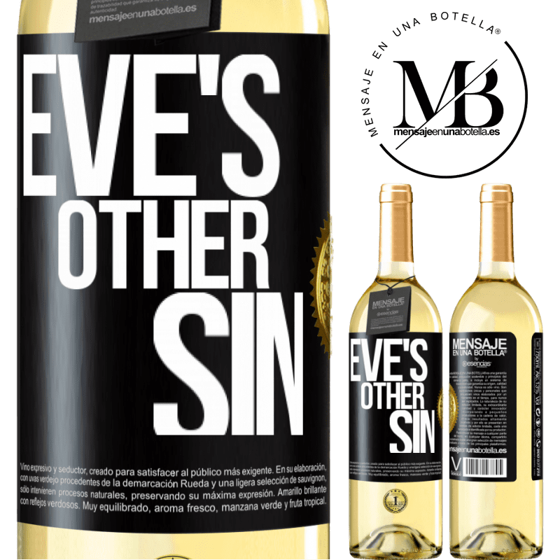 24,95 € Free Shipping | White Wine WHITE Edition Eve's other sin Black Label. Customizable label Young wine Harvest 2020 Verdejo